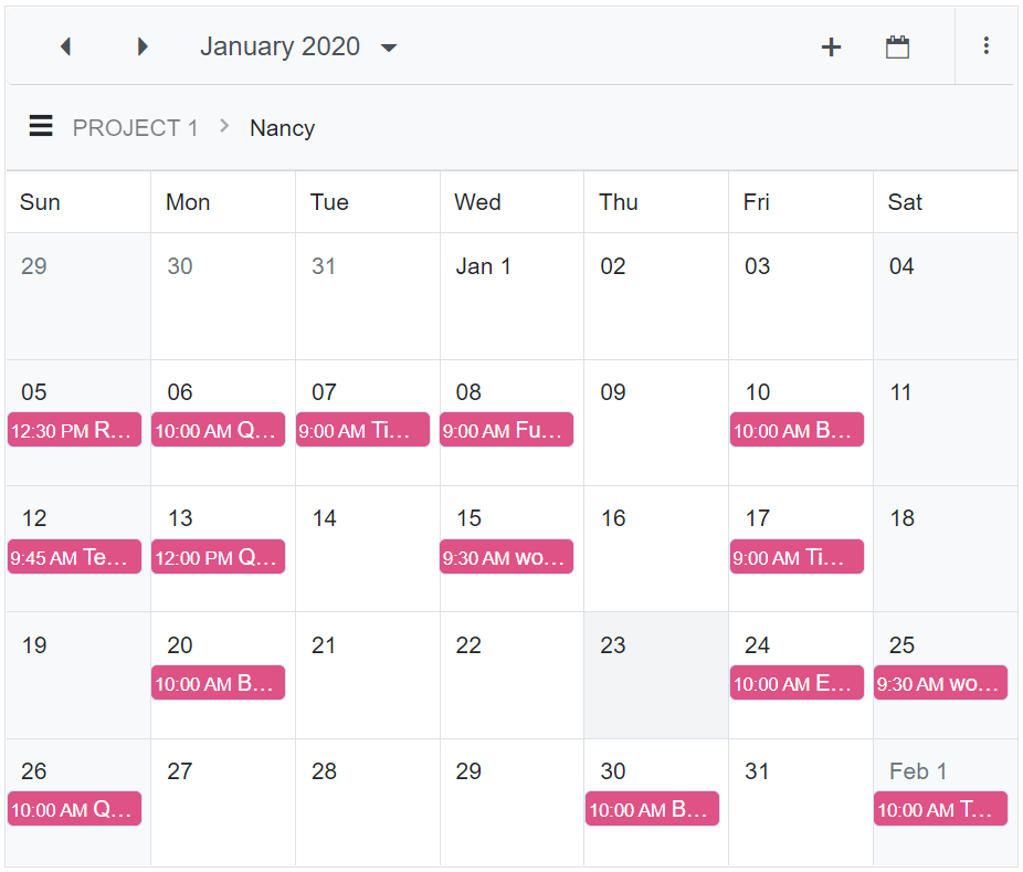 Mobile-Adaptive Layout for Scheduler on Desktop Device