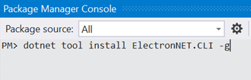 Package Manager Console Dialog