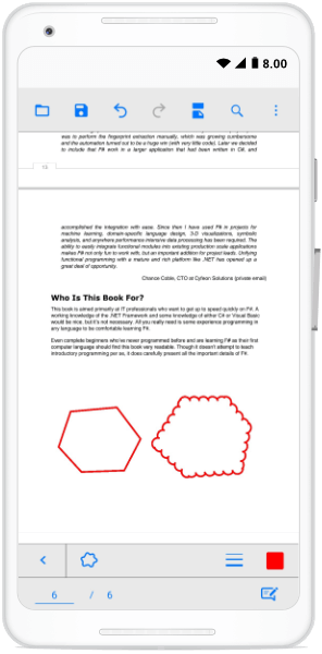 Polygon-Shaped Annotations with Cloud Border Style in Xamarin.Forms PDF Viewer