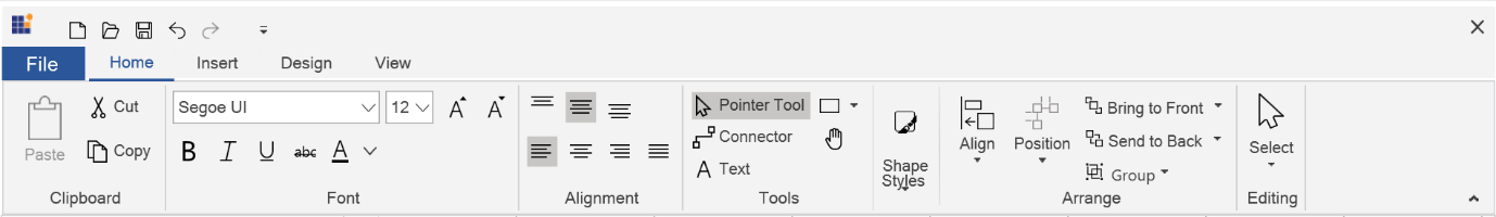 Ribbon UI Added to WPF Diagram Control