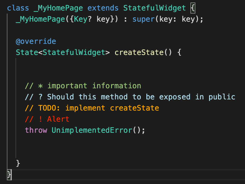 Styling Comments Using Better Comments