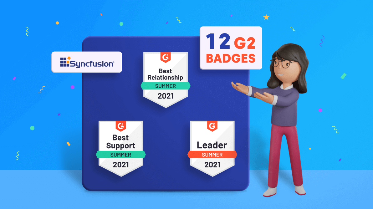 Syncfusion Receives 12 G2 Badges—Summer 2021