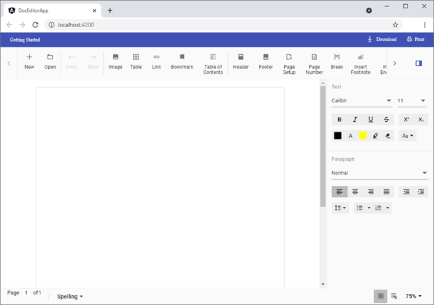 Word Document Editor Fit to Full Window