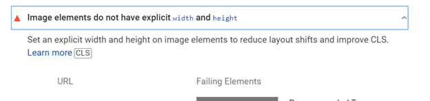 Dialog requesting the user to set the width and height for the image elements