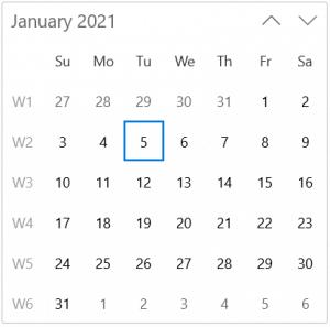 Displaying Week Numbers in WinUI Calendar