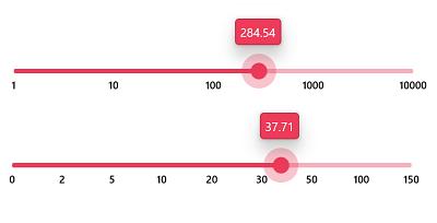 Numeric scale in WinUI 3 Slider