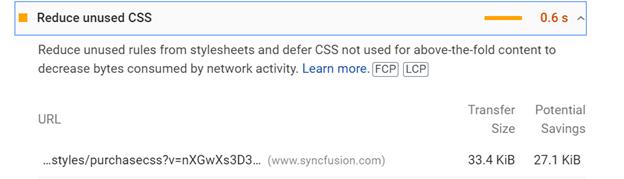 Reduce unused CSS