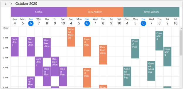 Resource Grouping in WPF Scheduler