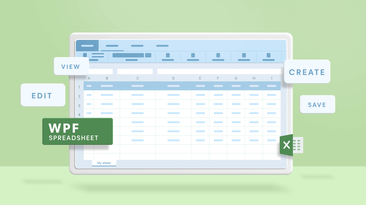 Create, View, Edit and Save Your Excel Files Using WPF Spreadsheet