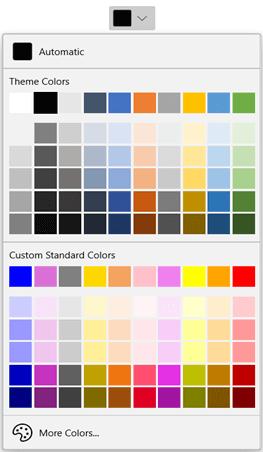 Customizing the Standard Colors of WinUI DropDown Color Palette