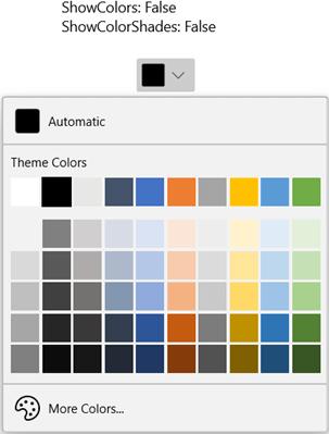 Hiding the Standard Color Palette in WinUI DropDown ColorPalette