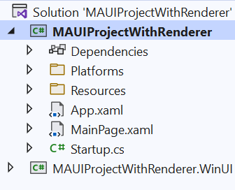 MAUI Project With Renderer