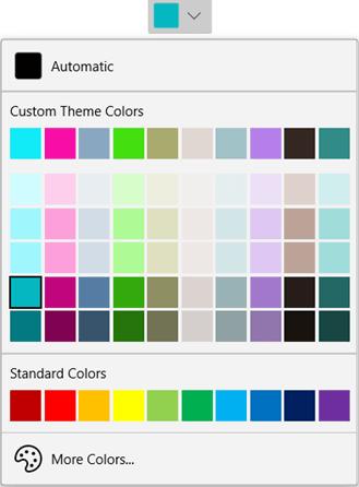 WinUI DropDown Color Palette: Custom Theme Colors