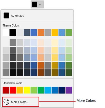 WinUI DropDown Color Palette With More Colors Button