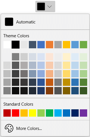 WinUI DropDown ColorPalette