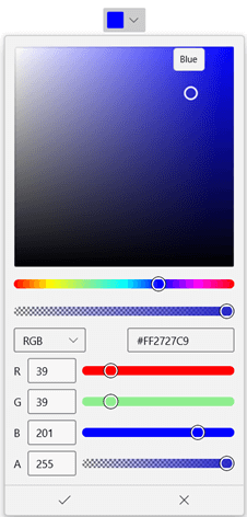 WinUI DropDown ColorPicker