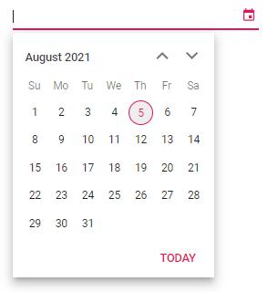 Angular DatePicker