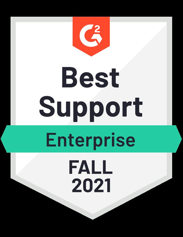 Best Support Enterprise Fall 2021