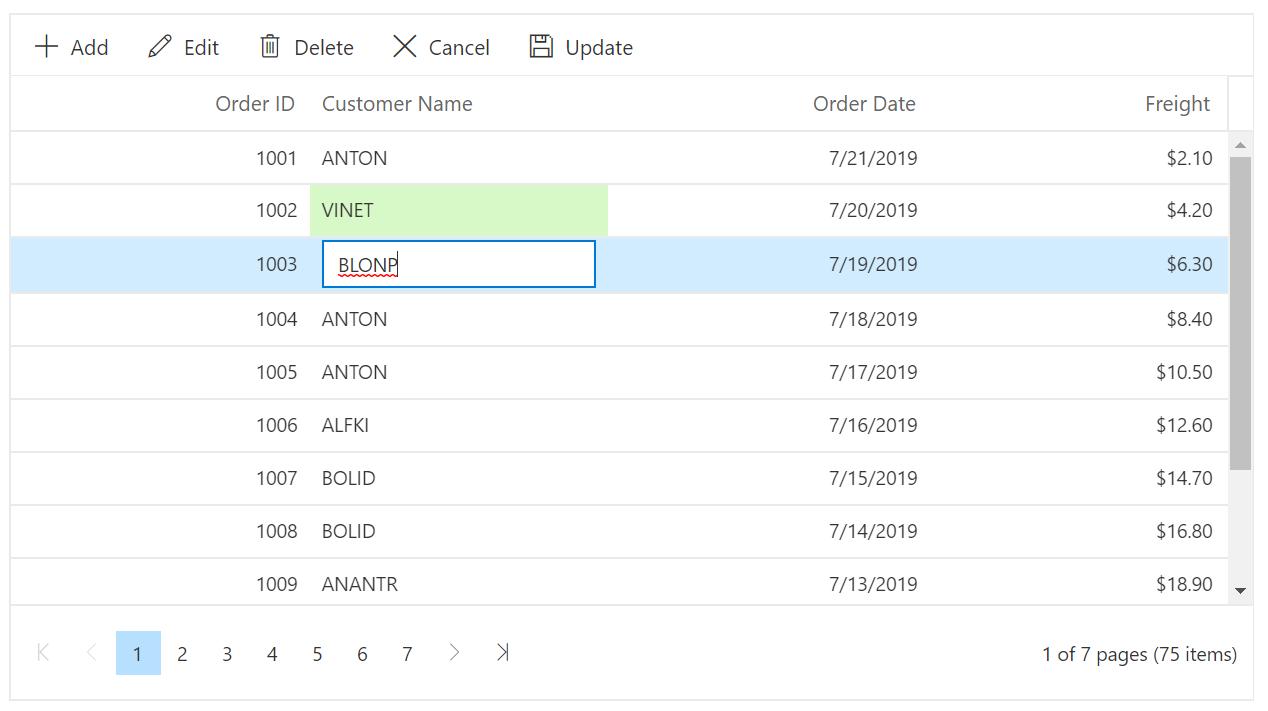 Bulk Editing in Blazor DataGrid