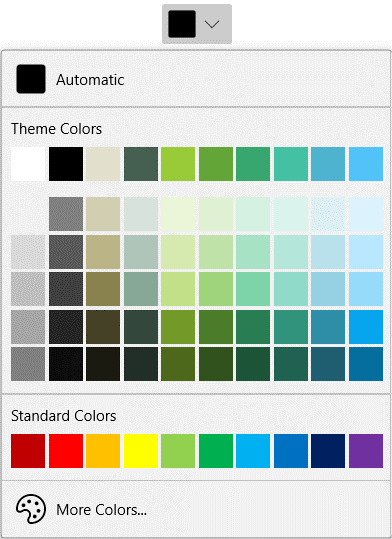 Customized Palette in WinUI DropDown ColorPalette