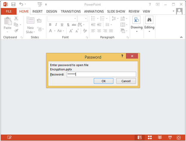 Encryption and Decryption Feature in .NET PowerPoint Library