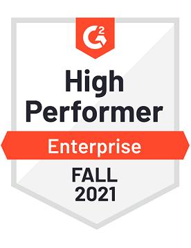 High Performer - Enterprise - Fall 2021