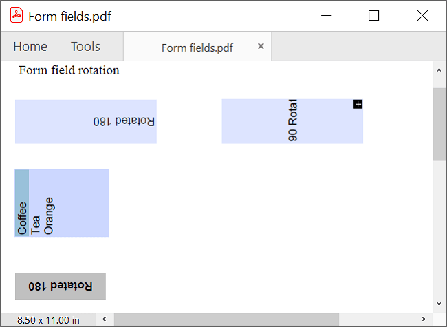 Rotating PDF Form Fields in .NET PDF Library
