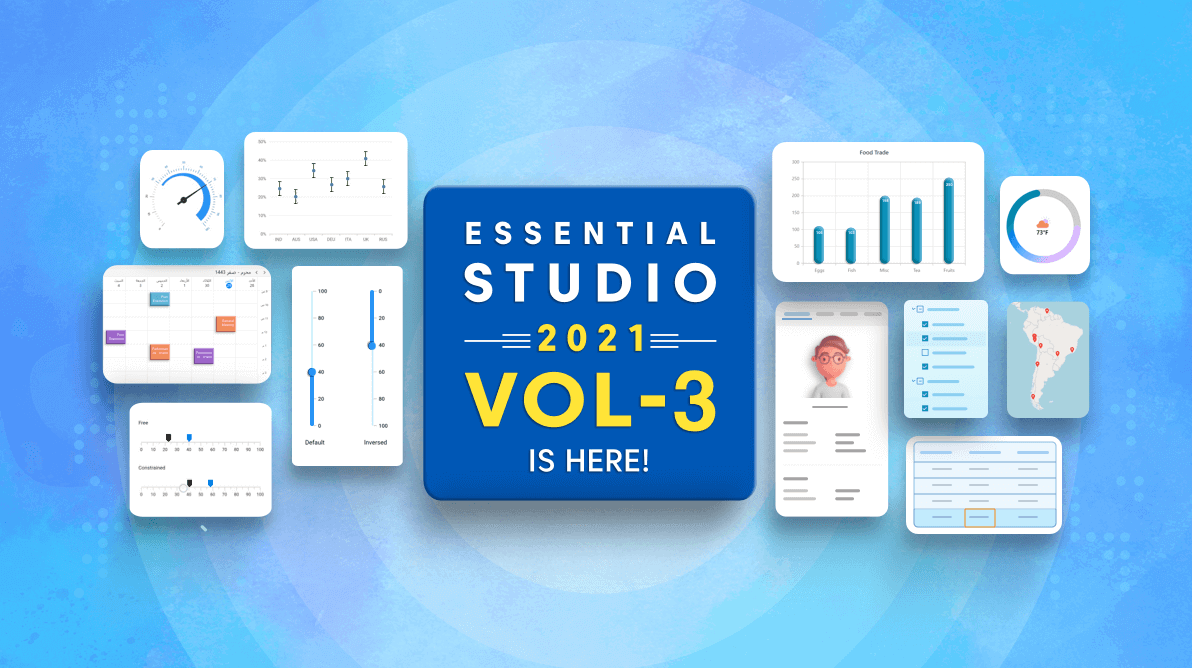 Syncfusion Essential Studio 2021 Volume 3 Is Here!