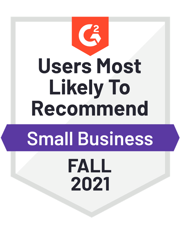 Users Most Likely To Recommend Small Business Fall 2021