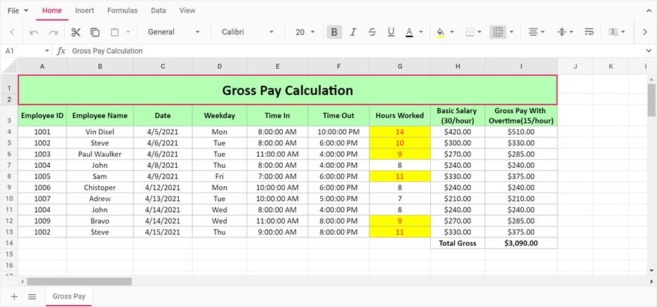 Validating Data in JavaScript Spreadsheet