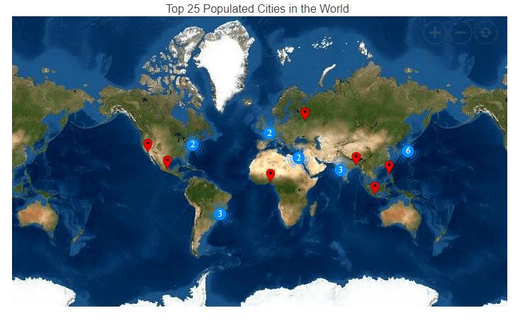 Visualizing Esri Map in Blazor Maps