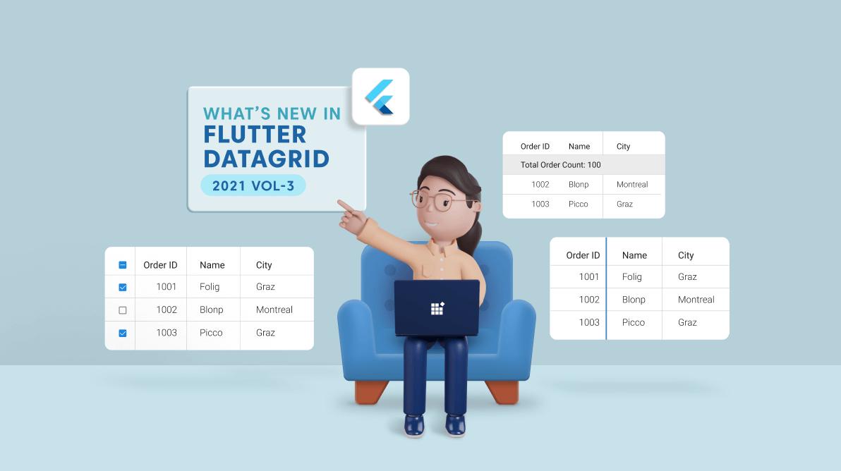 What's New in 2021 Volume 3 Flutter DataGrid