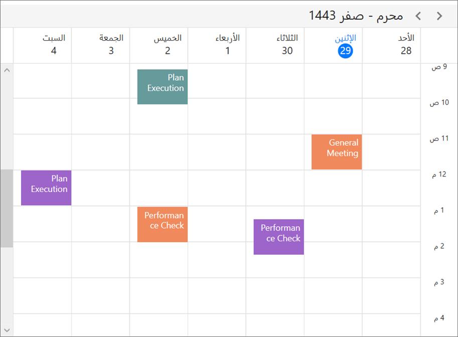 Different calendar types in WPF Scheduler