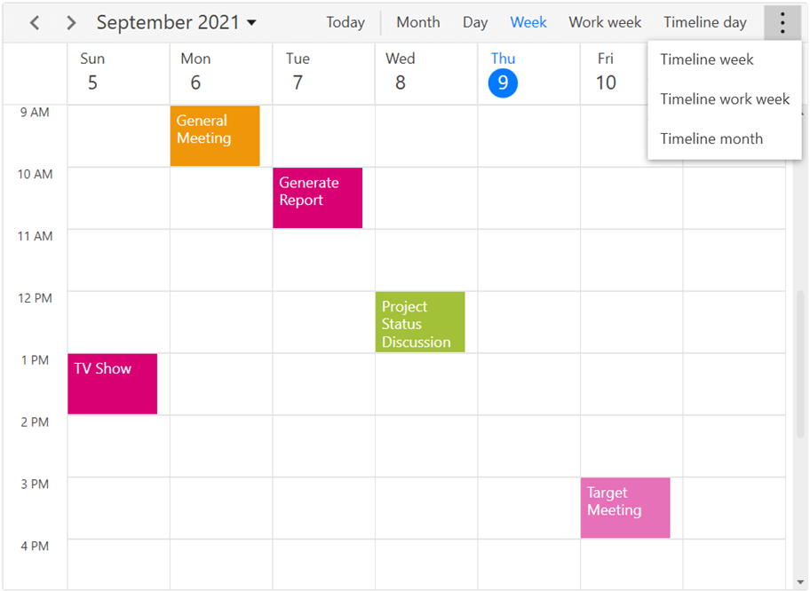 Easy Access to Views in WPF Scheduler