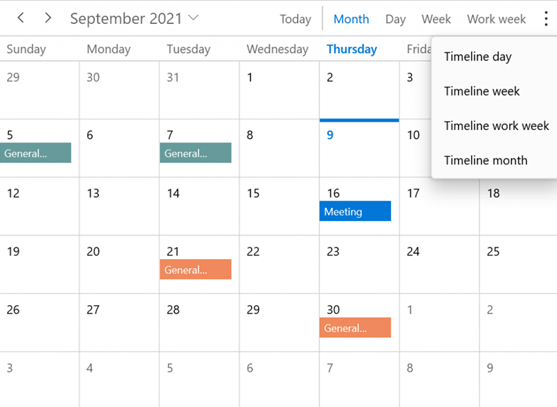 Easy Access to Views in WinUI Scheduler