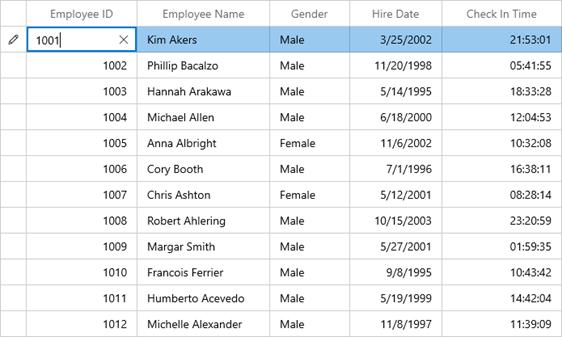 Editing Numbers Using NumberBox in WinUI DataGrid