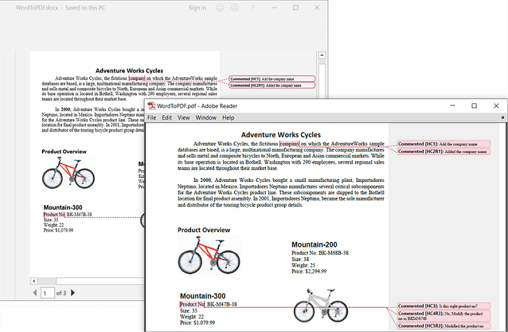 Preserving Comments in Word-to-PDF Conversion