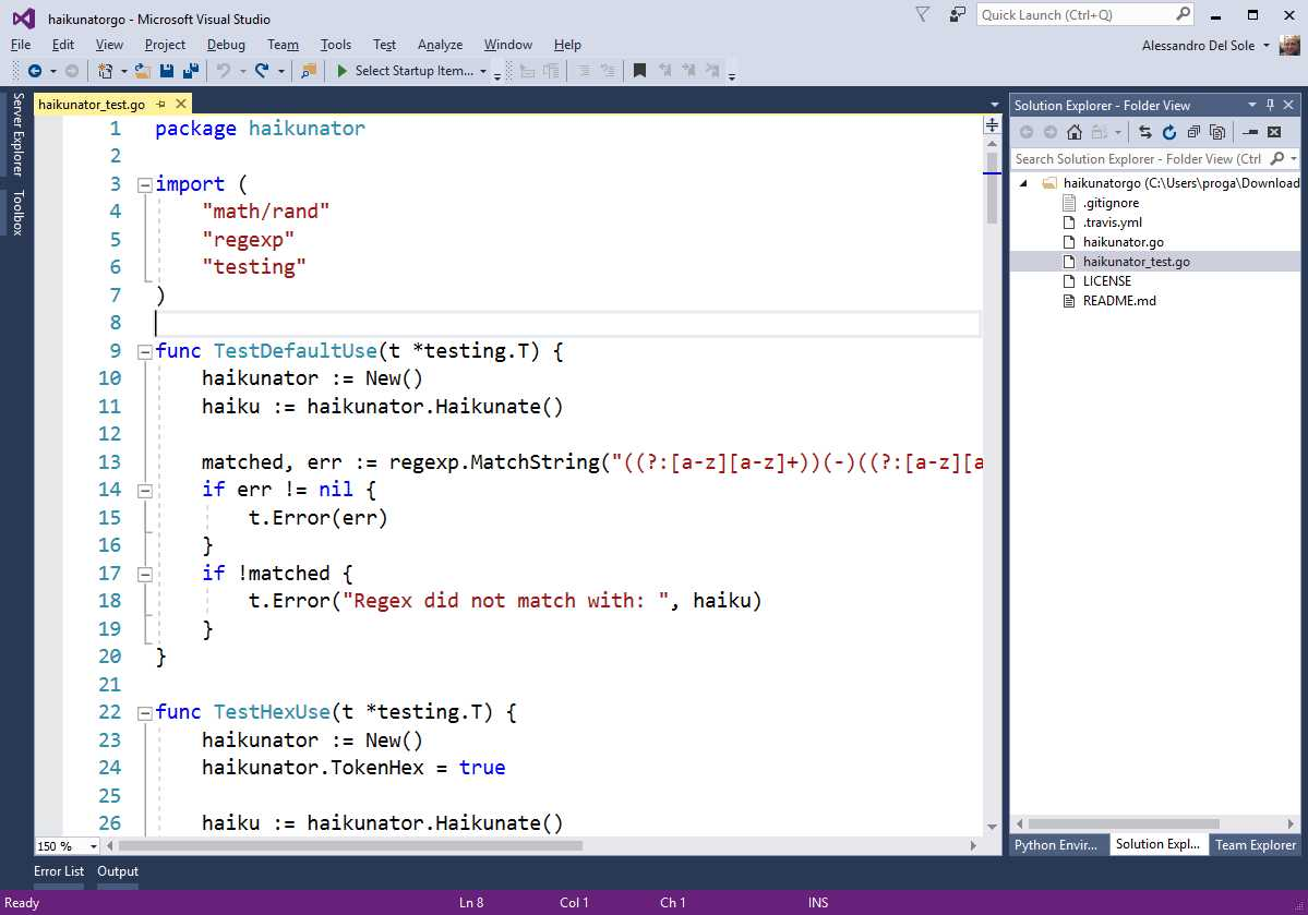 Ebook - Chapter 5 of Visual Studio 2017