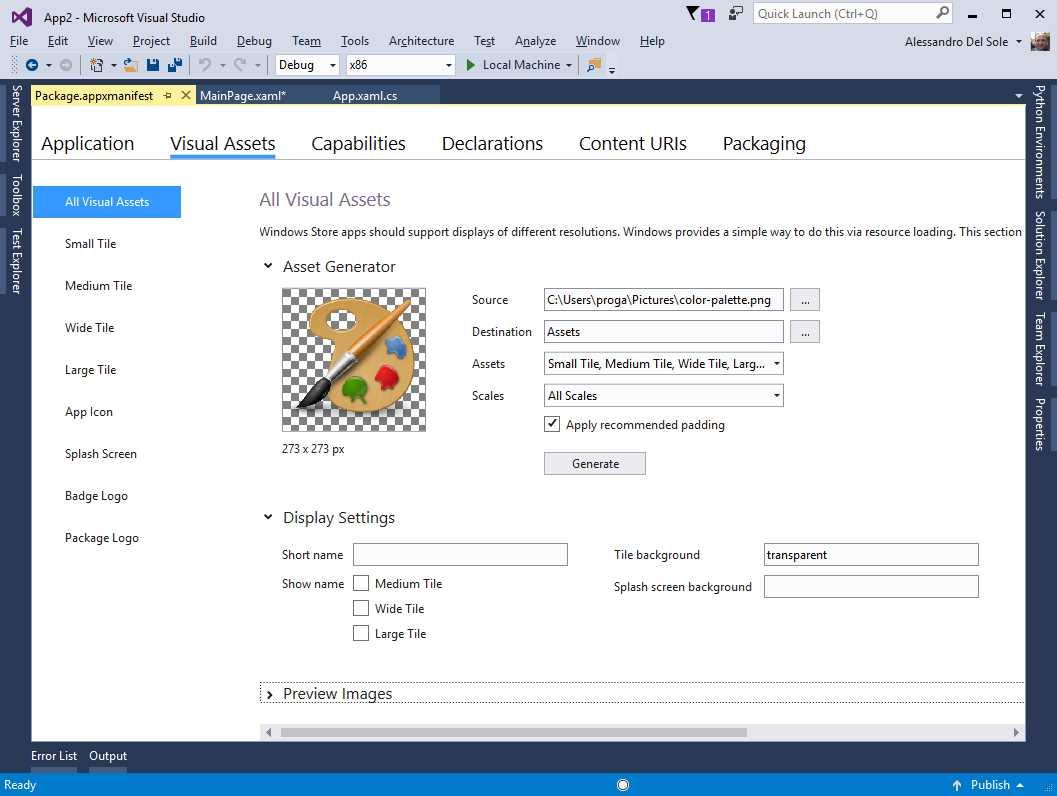 Ebook - Chapter 8 of Visual Studio 2017