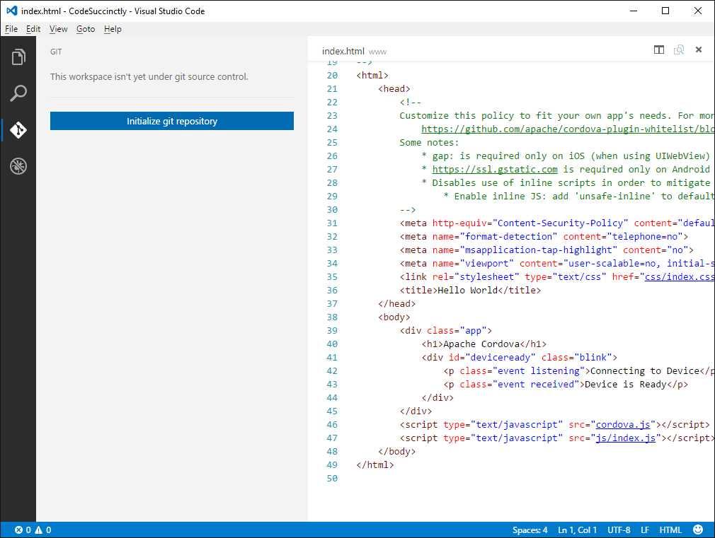Ebook - Chapter 3 of Visual Studio Code