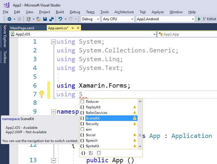 Ebook - Chapter 2 of Xamarin Forms