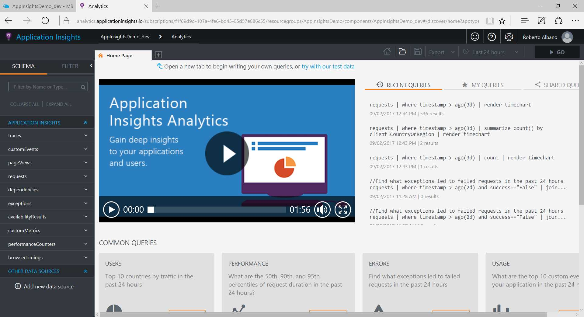 Ebook - Chapter 10 of Application Insights