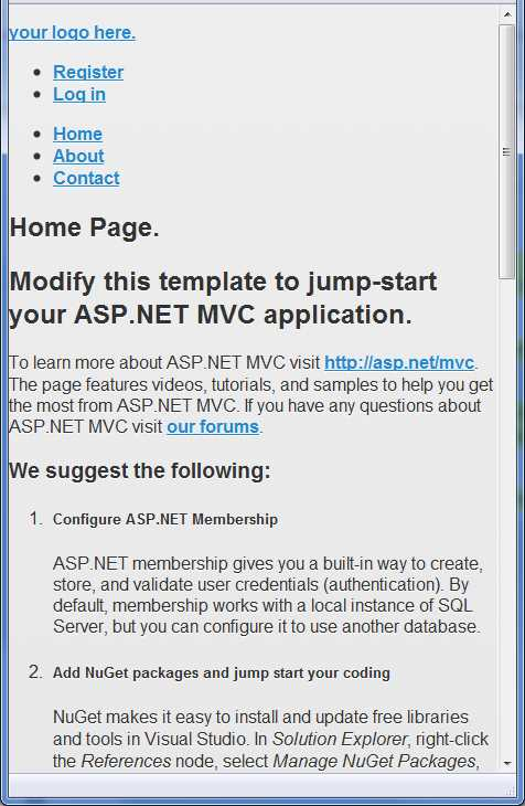 Ebook - Chapter 4 of ASP NET MVC 4 Mobile Websites