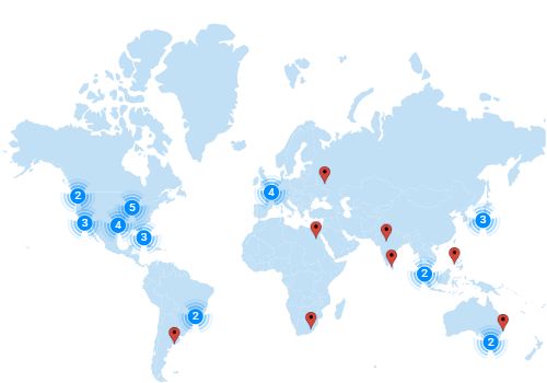 Angular Maps is rendered with marker clustering option