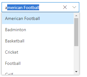 Blazor ComboBox autofill option while typing