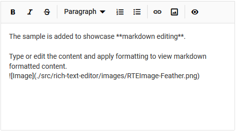Insert images in Blazor markdown editor.