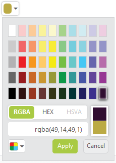 Standard Color Palette