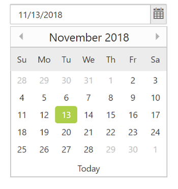 Date Selection within a date range