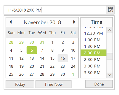 ASP NET Web Forms DateTime Picker Control | Syncfusion