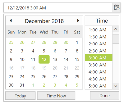 Disable dates